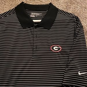 Men's UGA Nike Golf Dri-Fit Polo